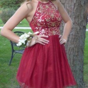 Dresses - Red Mini Dress